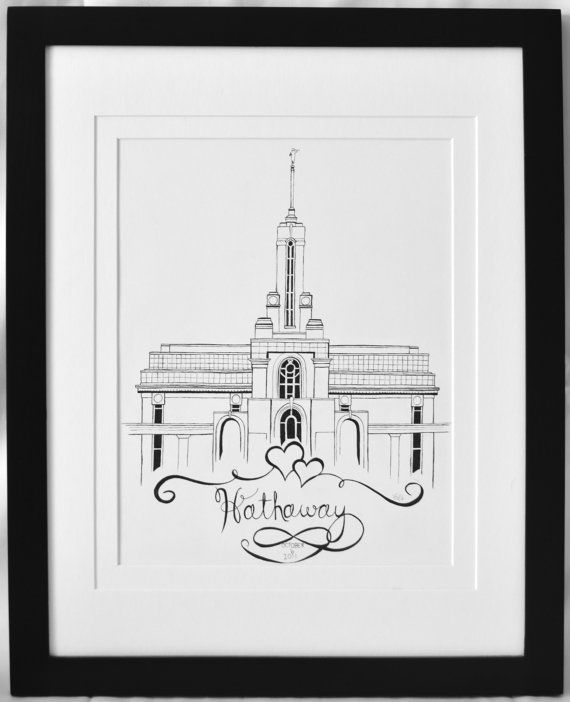 Personalized LDS Temple Original Pen and Ink by BHathawayArt ...