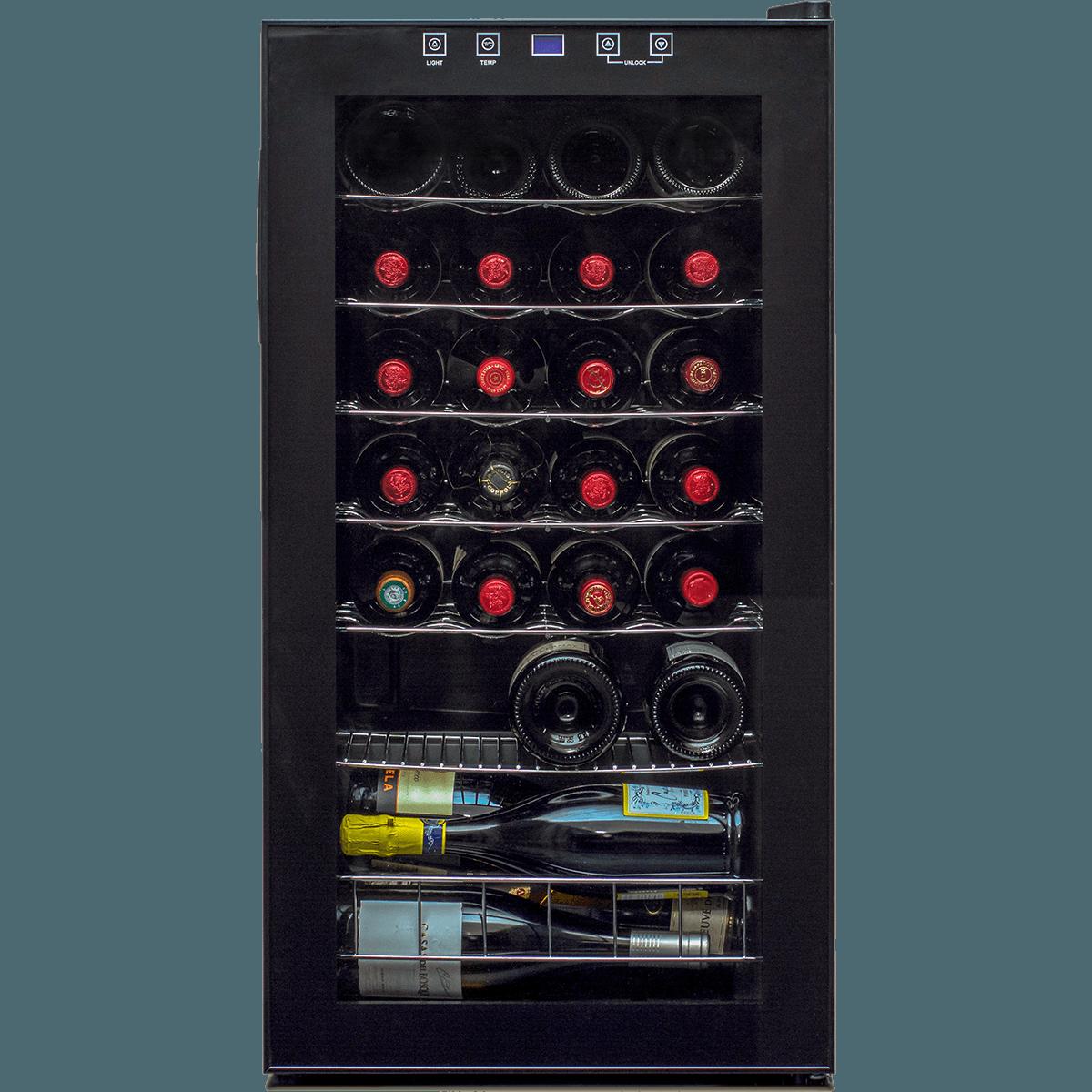 Buy Cheap 28 Bottle Single Zone Wine Cooler