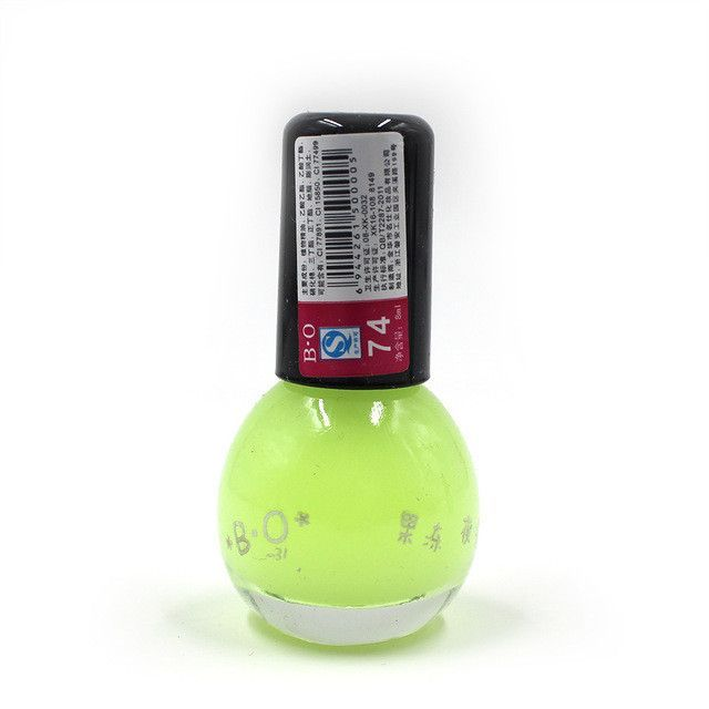 Brand Non-toxic Neon Fluorescent Luminous Gel Nail Polish