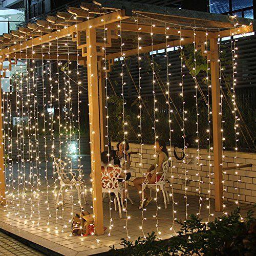 Dealbeta 6m x 3m 600led wasserdicht lichtervorhang led - Fensterbeleuchtung weihnachten ...