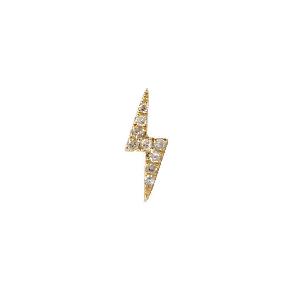 Diamond Lightning Bolt Stud Earring Products