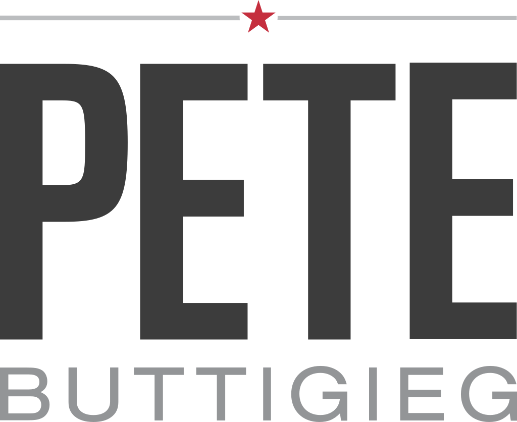 File:Pete Buttigieg 2020 logo.svg (With images) | Pete, Words, Logos