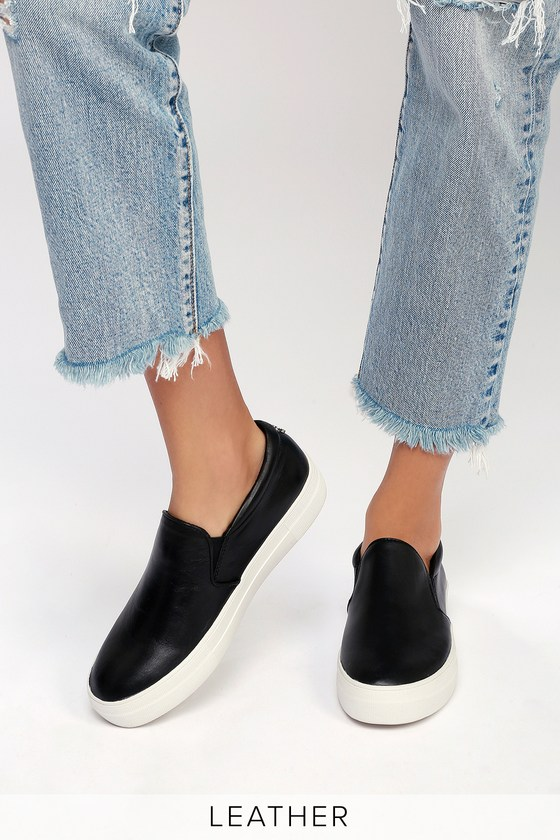 5683a531c30 Lulus | Gills Black Leather Flatform Sneakers | Size 9.5 in 2019 ...