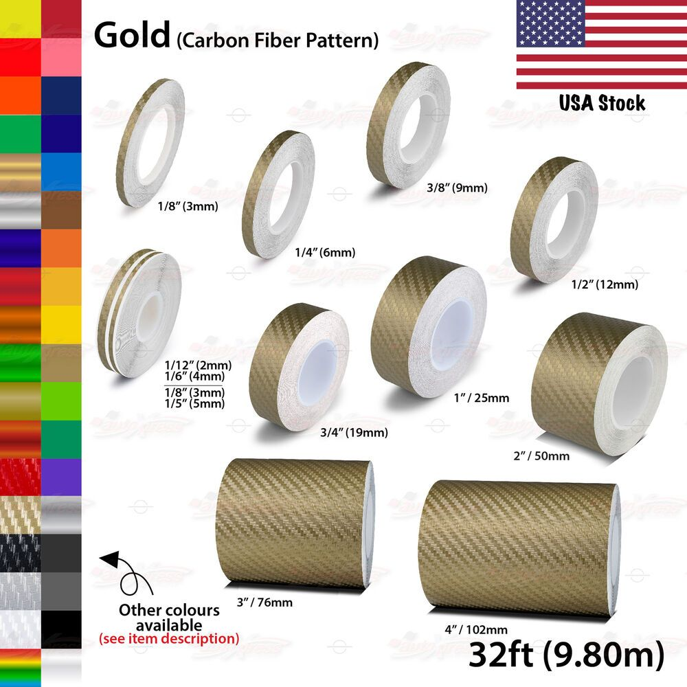 "1//8/"" Vinyl Pinstriping Pin Stripe Tape Decal Sticker 3mm CARBON FIBER SILVER"