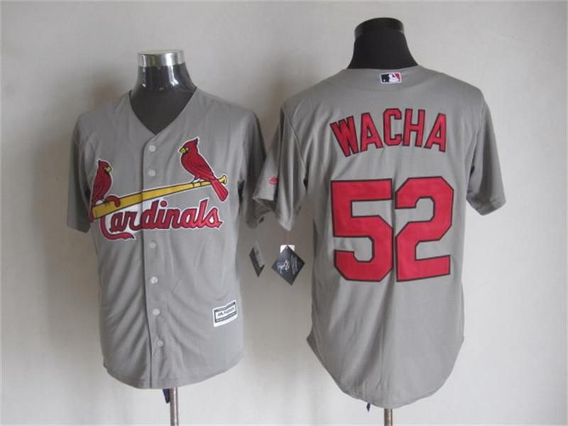 Men's St. Louis Cardinals #52 Michael Wacha White Pullover Cool Base Baseball Jersey