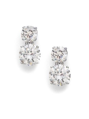 Adriana Orsini Double Stud Drop Earrings Adrianaorsini