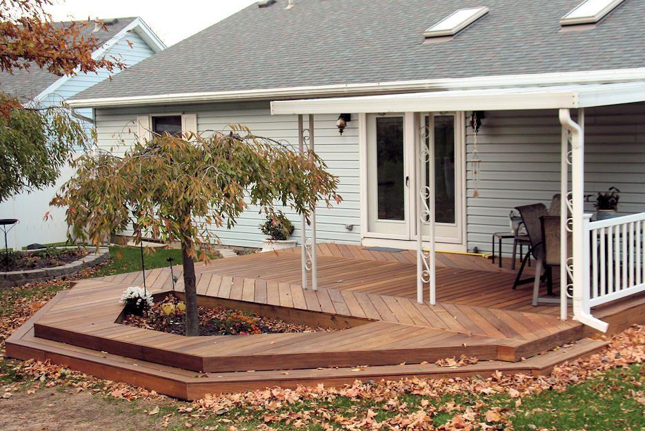 Ground Level Deck Designs Custom Made Decks Using Cedar