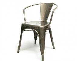 industrial-metal-arm-chair-tolix  sc 1 st  Pinterest & industrial-metal-arm-chair-tolix   Tolix Chairs   Pinterest ...