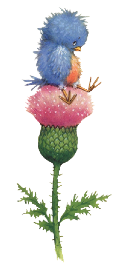 cute bird and flower clip art