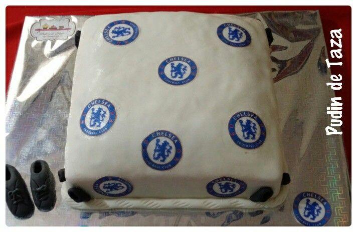 Torta de ciruela,  decoración de Chelsea f.c