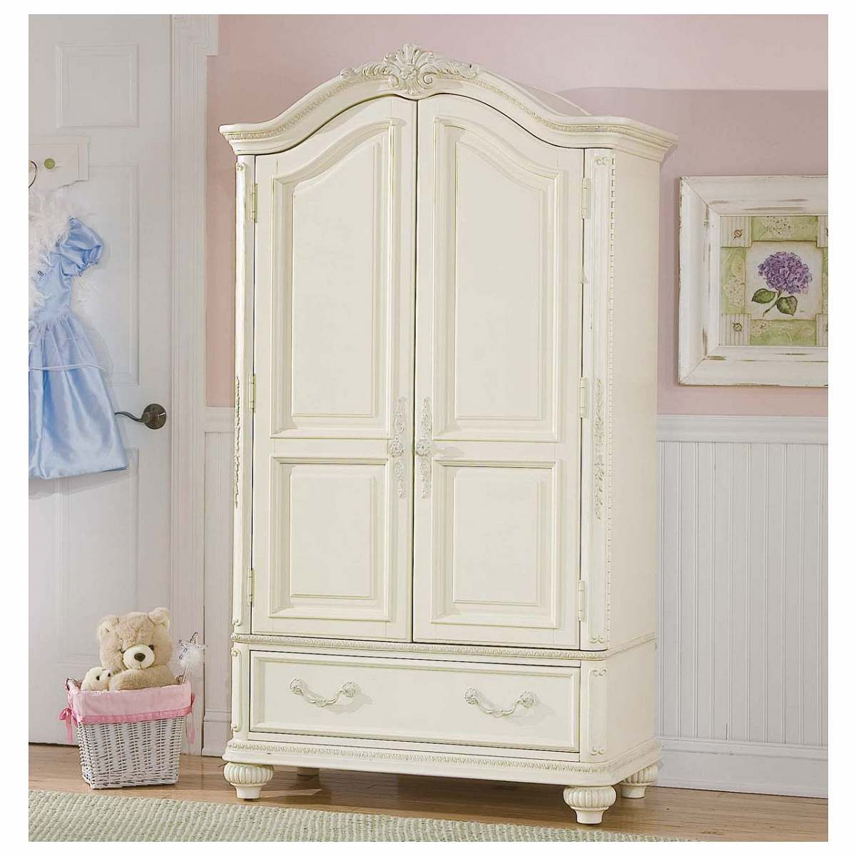 Lea Jessica McClintock 2 Door Chest In Antique White