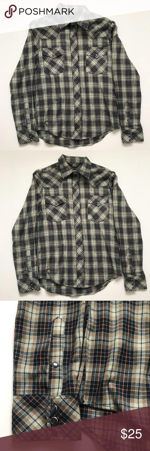 Orange flannel jacket  Urban outfitters Salt Valley Western Plaid Flannel  Flannel shirts