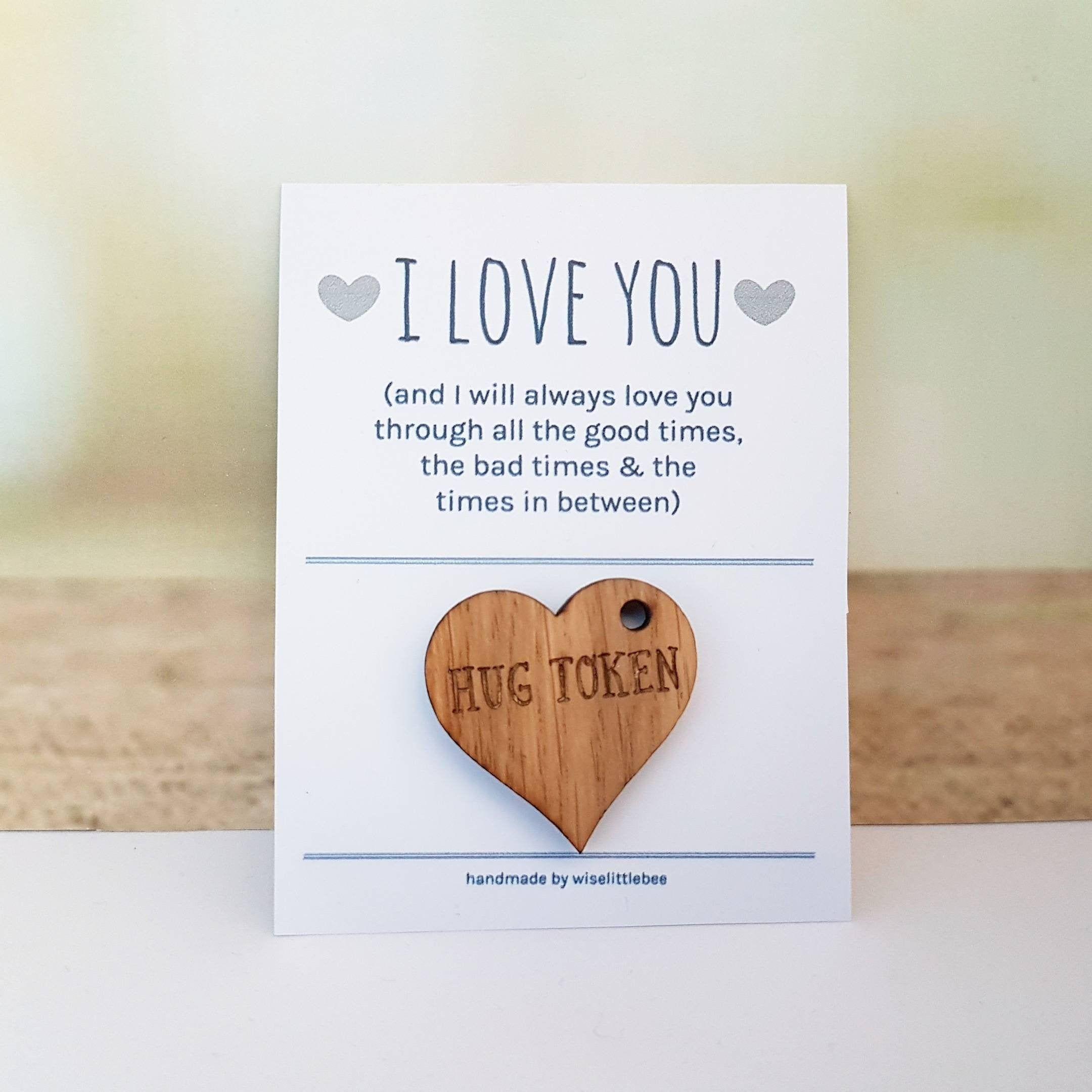 Boyfriend card girlfriend friend support gift hug
