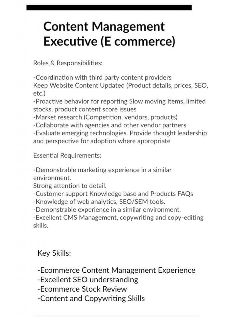 Drop Your Cv To Careerkwt01 Gmail Com Job Opening Content Management Job