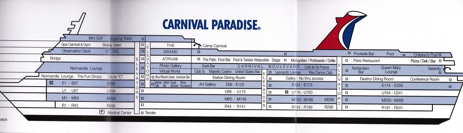 Carnival Elation Deck Layout Google Search Events Seabay Cruise