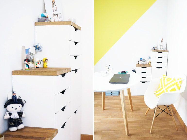 Mon bureau jaune et blanc [ home decor ] workspace bureau jaune