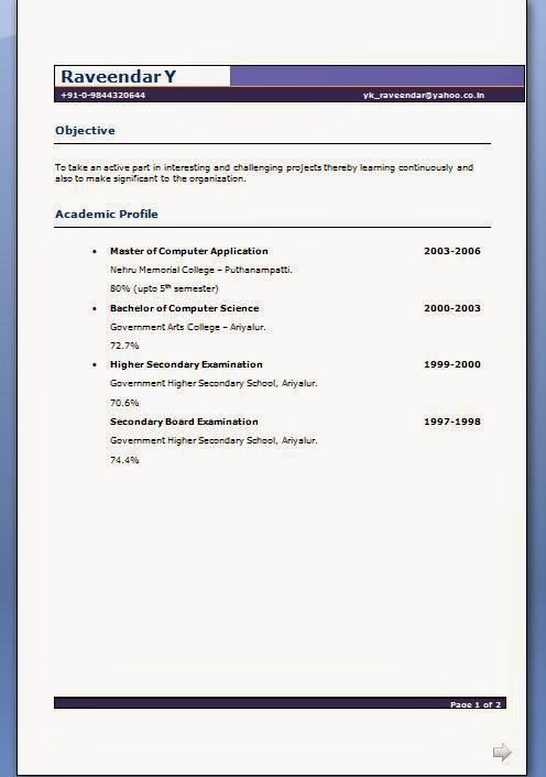 graduate resume sample Sample Template Example of ExcellentCV - computer science resume sample