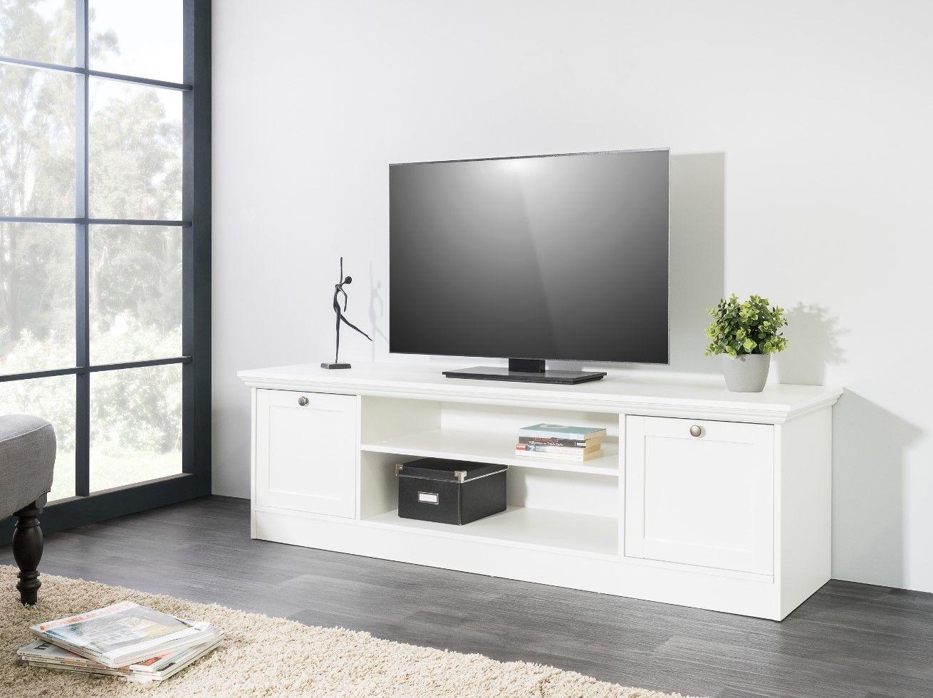 meuble tv leonor blanc pas cher
