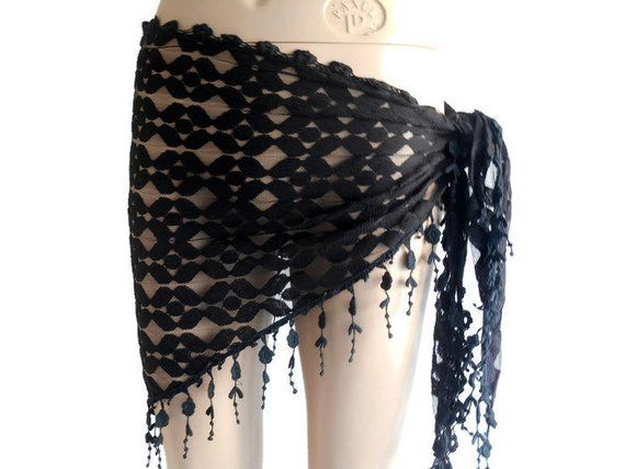7043a39dd4 Chic Dior Black Sarong Wrap With Fringe - Swimsuit Cover Up + After Swim in  2019
