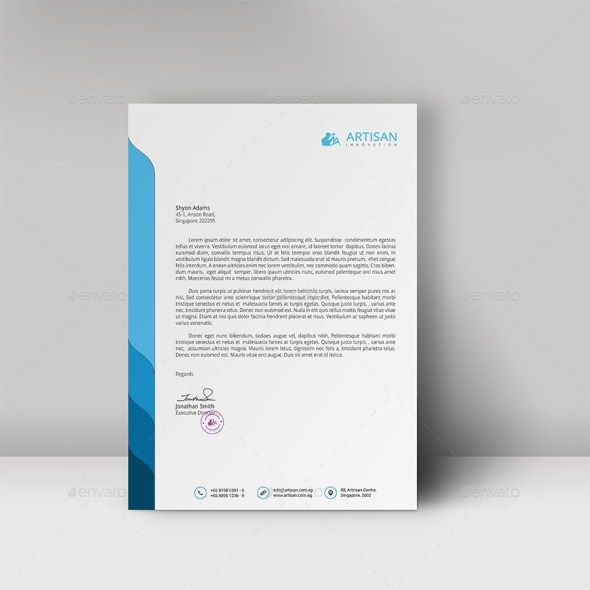 Professional Letterhead Template Letterhead Pinterest - free business stationery templates for word