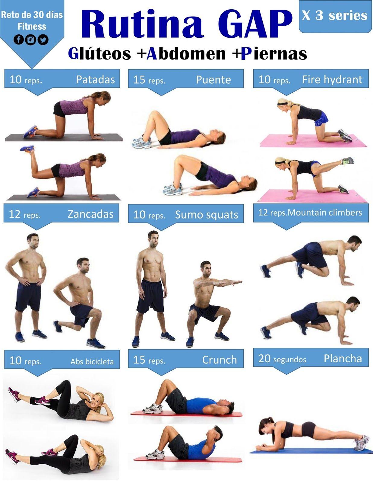 Rutina de ejercicios para abdomen gluteos y piernas en casa