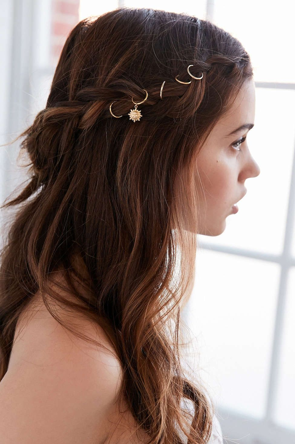 Regal rose sun charm braid ring hair envy pinterest hair hair