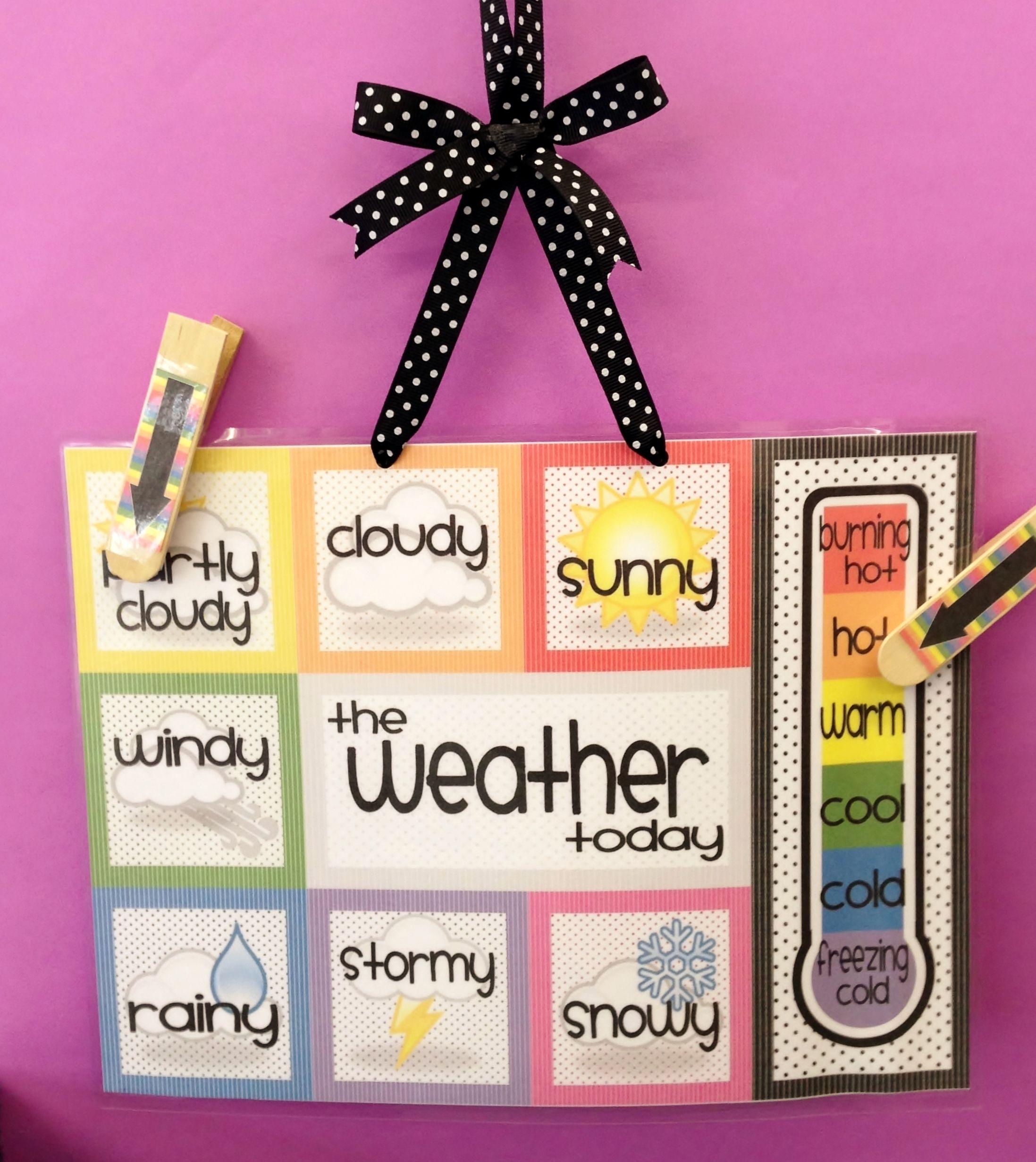 Weather Boards with Clothes Pegs - https://docs.google.com/file/d/0B9UlJnYD3dZGcktNVVYwZzZtYlU/edit?pli=1