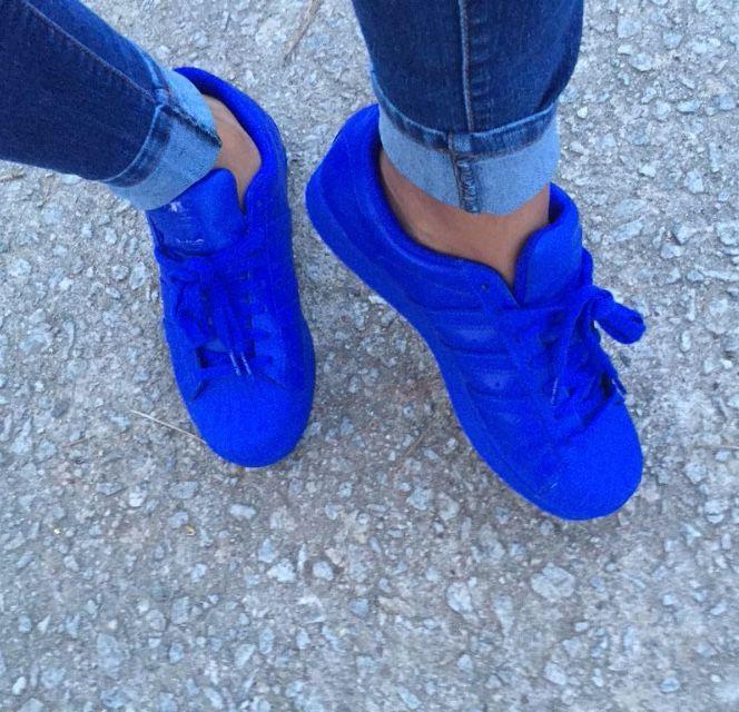 5b2e06ee96ac pinterest   brittesh18 ♡ Blue Adidas Shoes