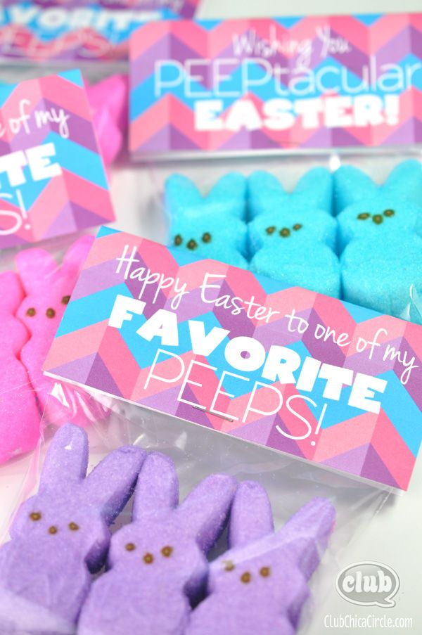 You are one of my favorite peeps gift bag and free printable work wife happy easter peeps treat bags with free printable negle Image collections