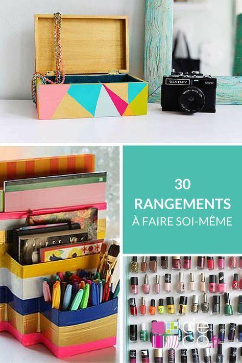 40 rangements faire soi m me astuces diy pinterest faire soi meme rangement faire soi. Black Bedroom Furniture Sets. Home Design Ideas