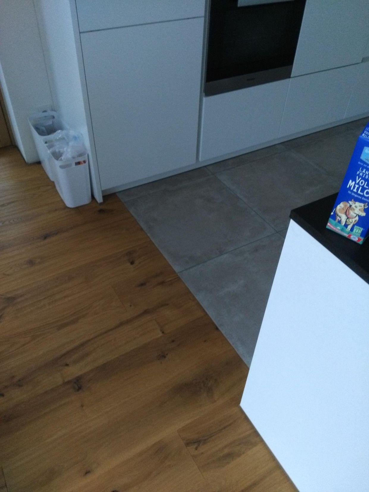 8 Fliesen Übergang Küche Wohnzimmer in 8  Küchenboden