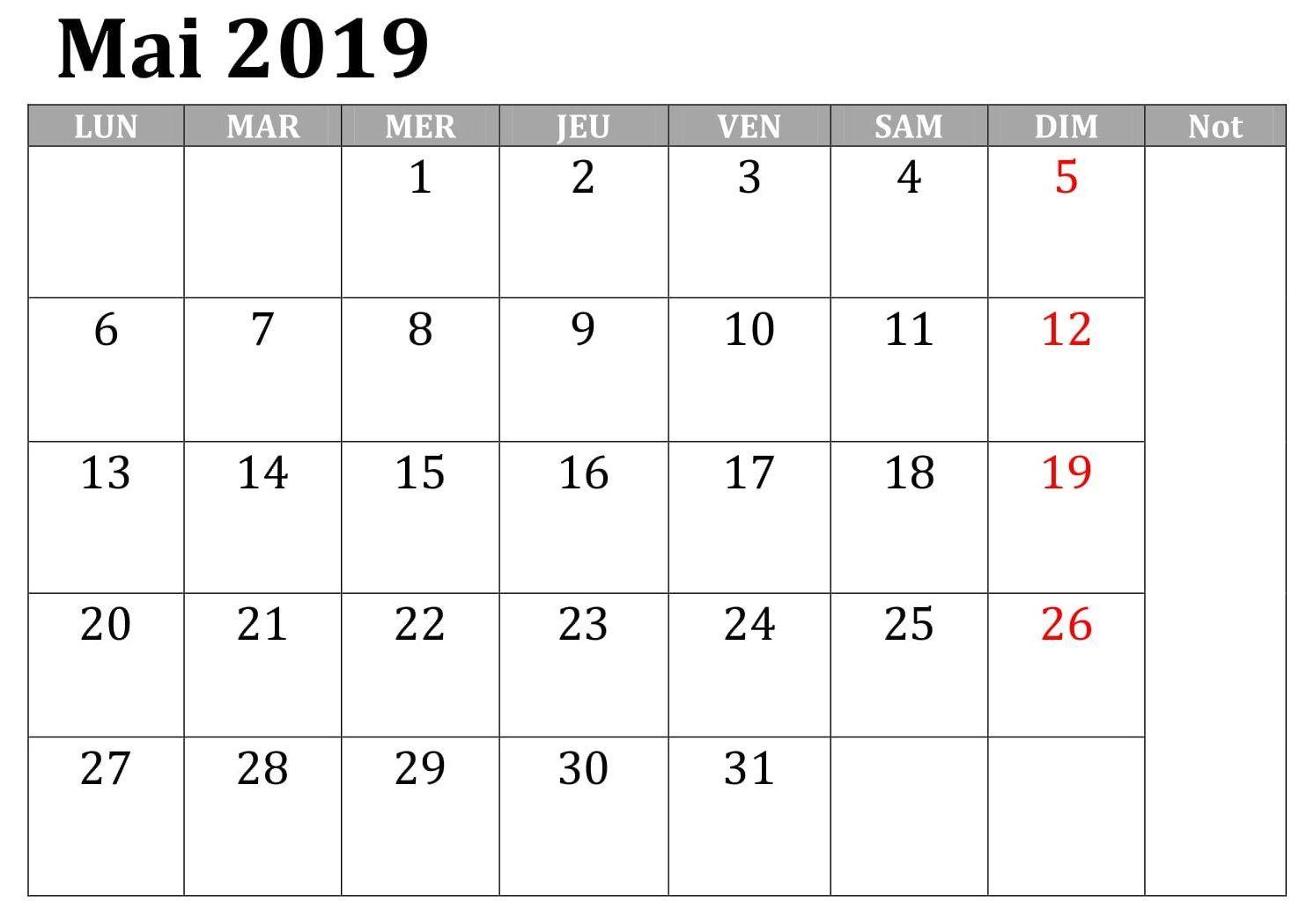 Calendrier Mai 2019 A Imprimer Gratuit.Calendrier Mai 2019 A Imprimer Gratuit Mai Mai2019