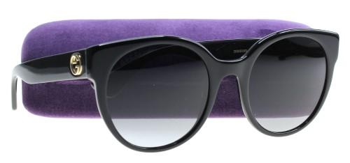 e9316626e95 Gucci Women s GG0035S GG 0035 S 001 Black Gold Fashion Sunglasses 54mm