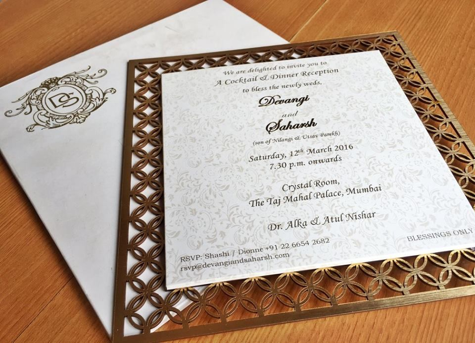 indian wedding invitation mumbai%0A A wooden cutwork frame card for Devangi and Saharsh by Gifts Tell All   Mumbai    Invitation IdeasInvitation CardsWedding