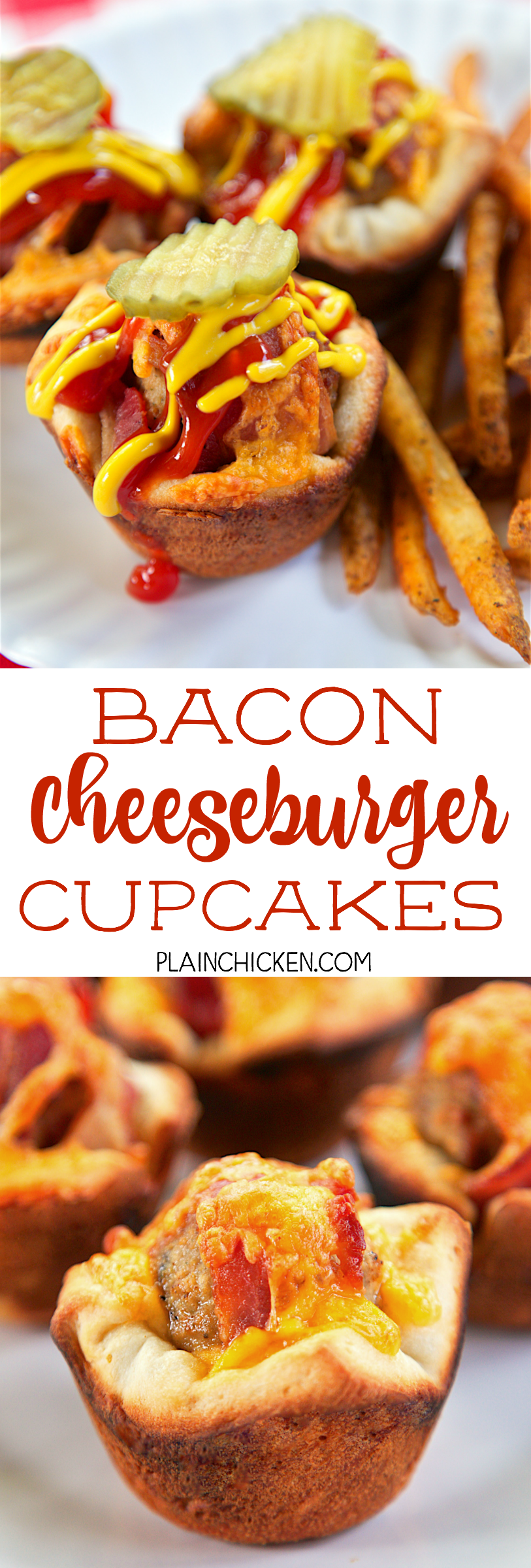 Bacon Cheeseburger Cupcakes - only 4 ingredients ...