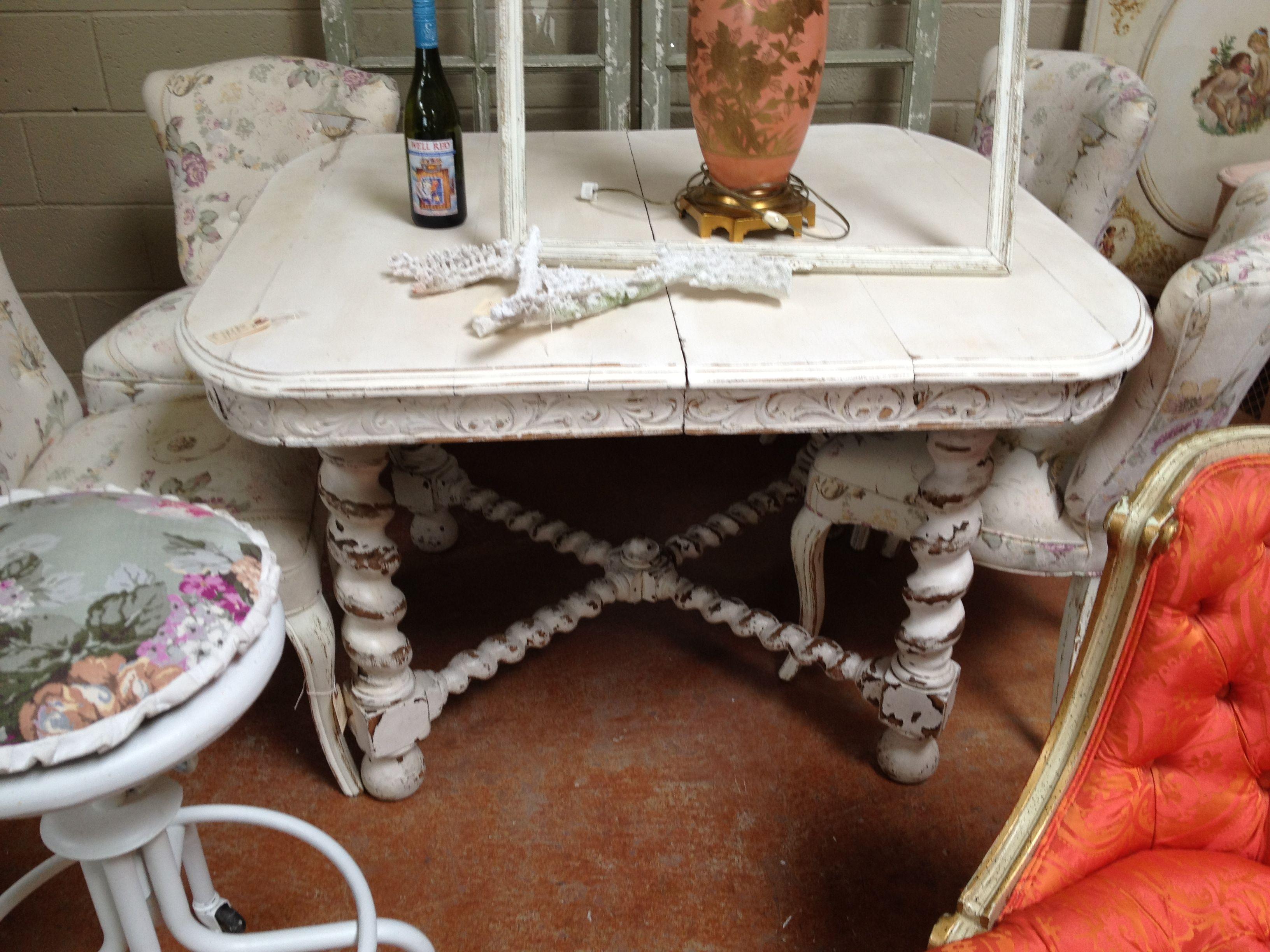 fabulous old rare barley twist table