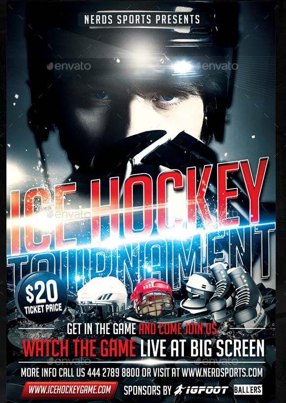 Nice Ice Hockey Sport Flyer Advert Flyer Pinterest Hockey