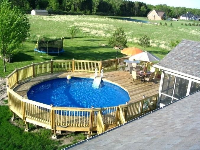 Above Ground Pool Deck Plans Medium Size Of Plan For