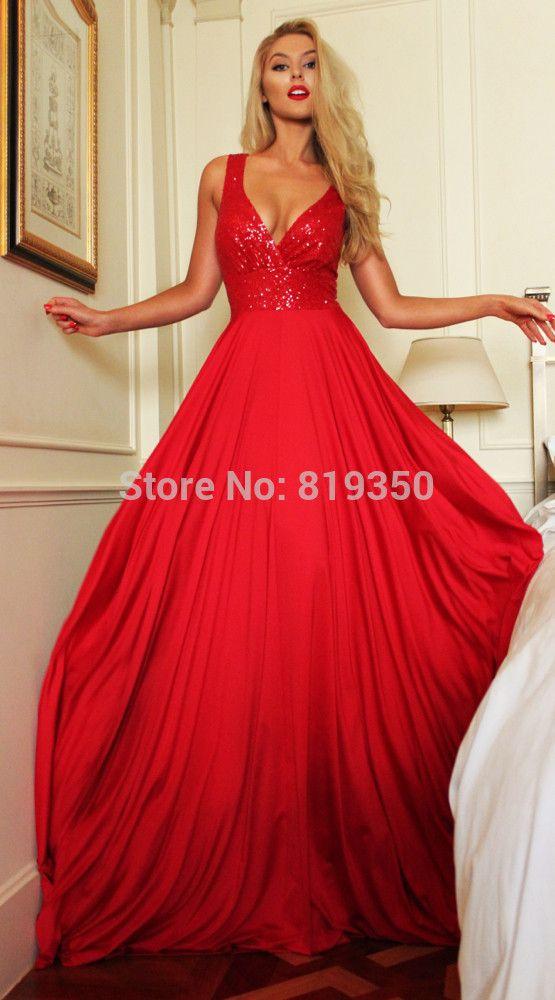 Cheap Robe De soirée Dubai vestidos noche 2016 largo rojo Vestido De