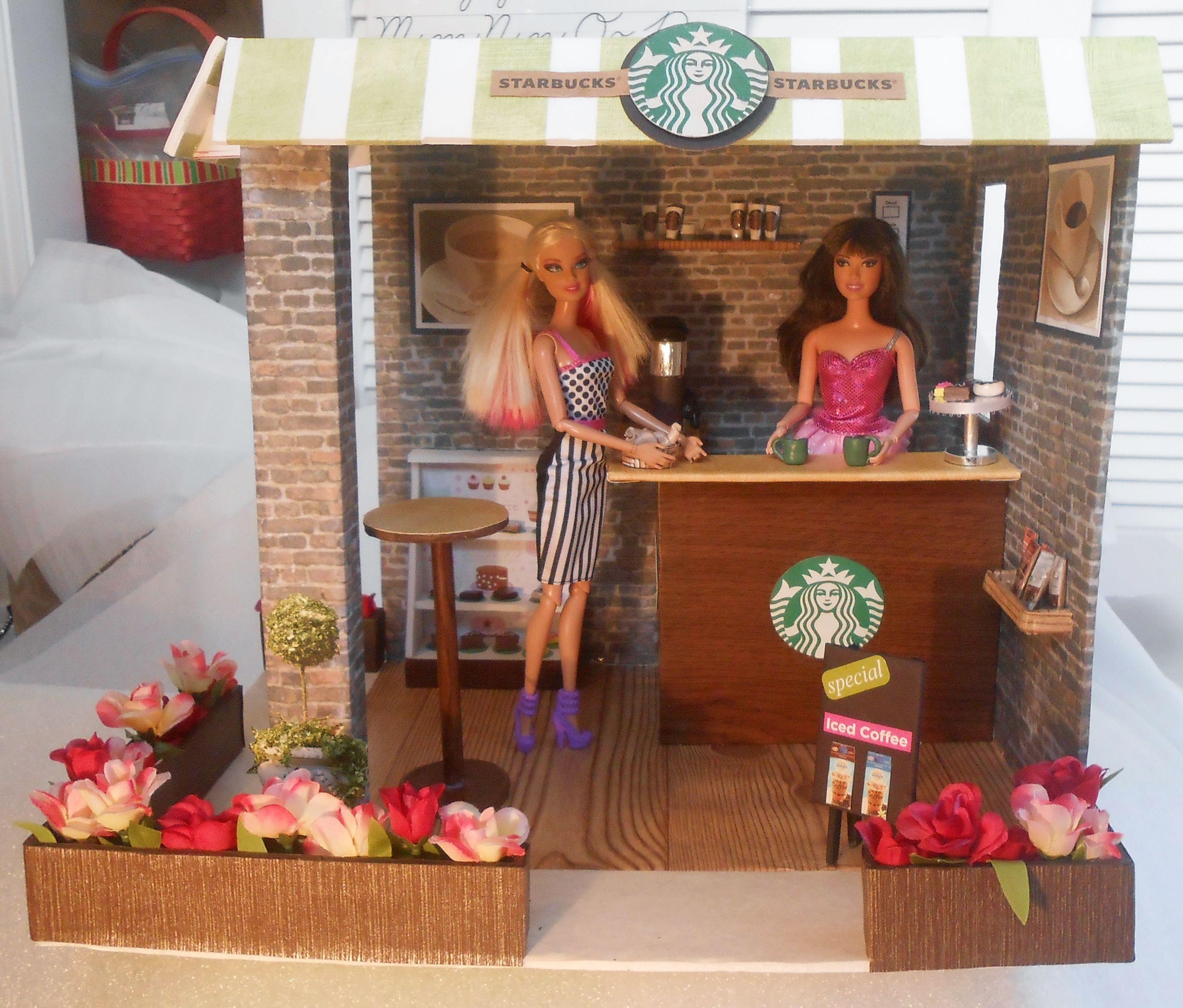 Barbie doll starbucks coffee shop barbie house diy
