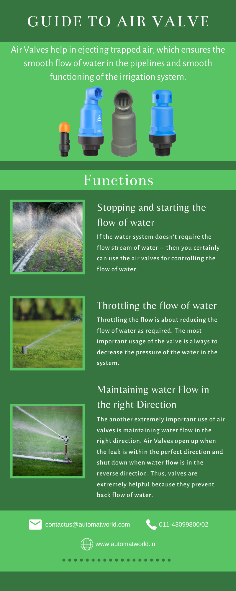Guide to Functions of Air Valve Valve, Irrigation, Micro