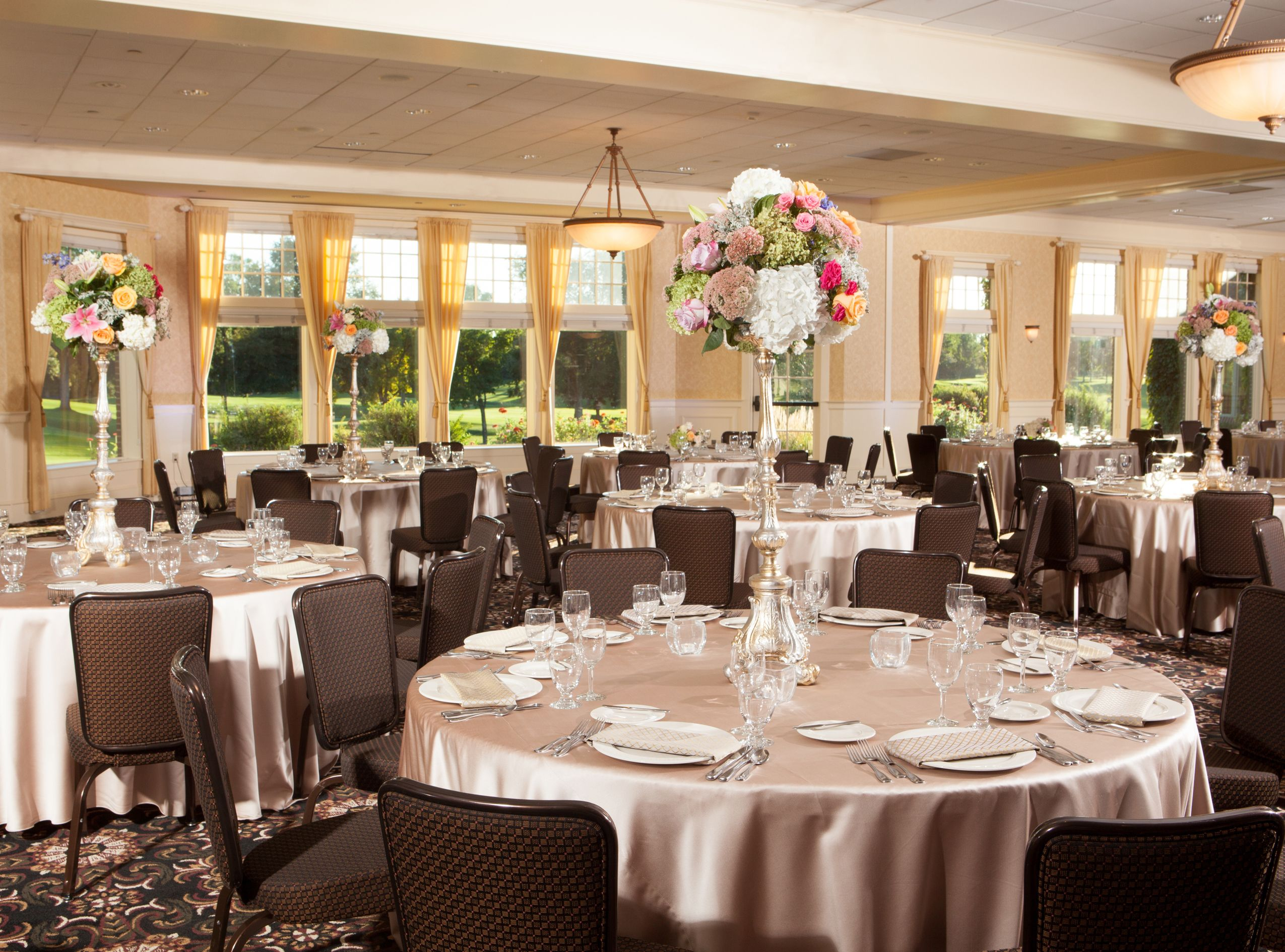Indoor wedding receptions at golden valley golf and