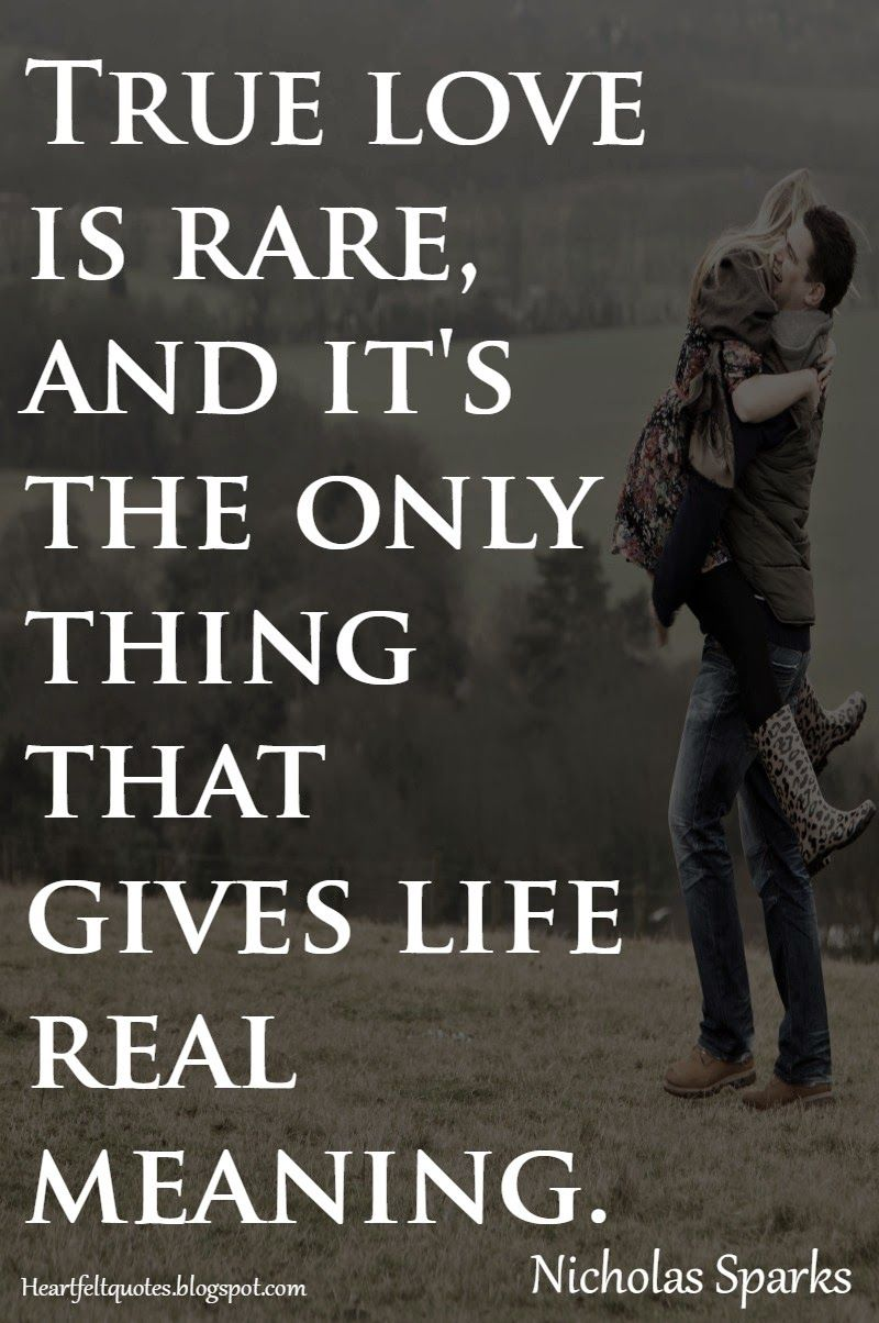 I whole heartedly agree with this quote True love is rare and I am so