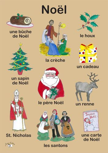 Lexique : Noël Source : https://fr.pinterest.com/pin/332422016220132902/