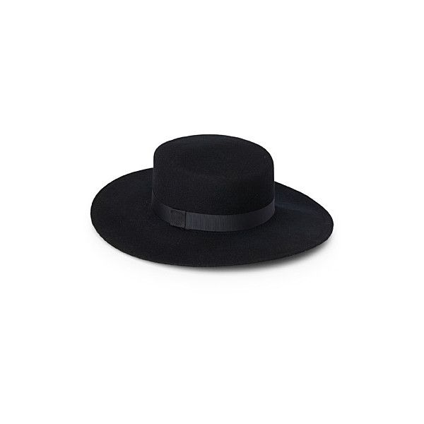 Ophélie Hats Felt gaucho hat ($56) ❤ liked on Polyvore featuring accessories, hats, gaucho hat, wide hat, felt hats, brimmed hat and wide brim hat
