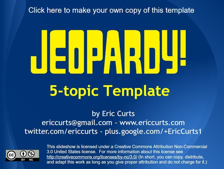 Review and Teach with These 9 Free Jeopardy Templates Templates - classroom jeopardy template