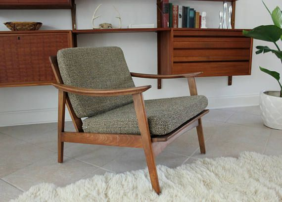 Mid Century Modern Lounge Chair With Original Upholstery Mid