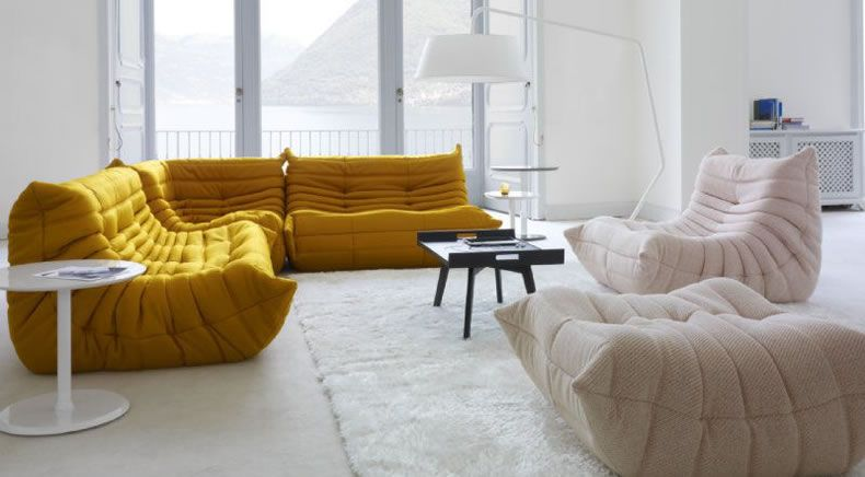 Ligne Roset Togo Sofa Curry Yellow