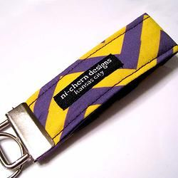 College colors keychain - Louisiana State University by Nicherne Designs - check site for other colors *Handmade in KC member