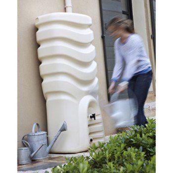 Récupérateur du0027eau et collecteur aérien EDA rectangulaire beige - recuperation eau de pluie maison